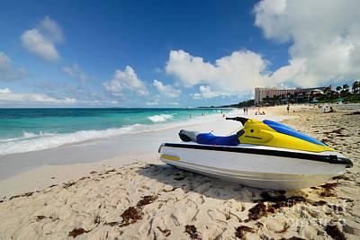 Jet Ski On The Beach At Atlantis Resort Art Print