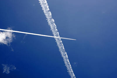 Photograph - Jet Trails 2 by Steve Ball