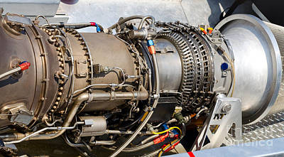 Photograph - Jet Turbine Engine  by Les Palenik