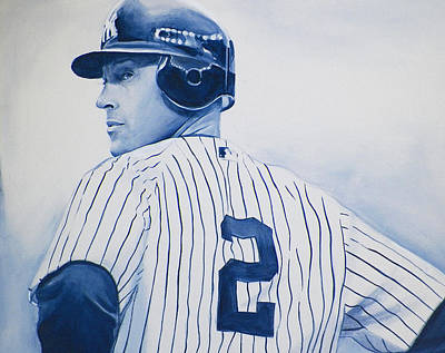 Mlb Art Painting - Jeter by Derek Donnelly