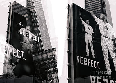 Derek Jeter Photograph - Jeter Re2pect by John Rizzuto