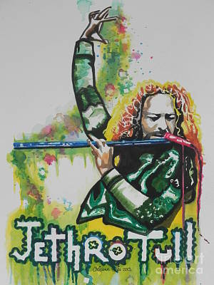 Music Paintings - Jethro Tull by Chrisann Ellis