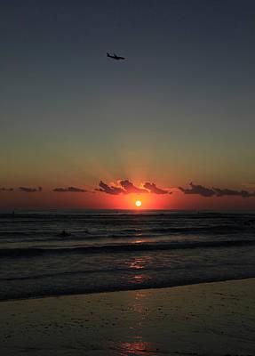 Photograph - Jetliner At Dawn by Noel Elliot