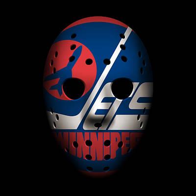 Jets Photograph - Jets Goalie Mask by Joe Hamilton