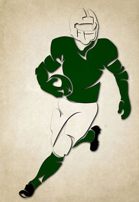 Jets Shadow Player Art Print by Joe Hamilton