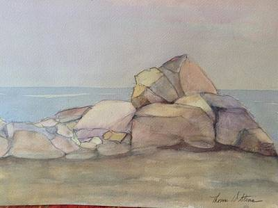 Painting - Jetty At Mid Day by Thomas Steiner