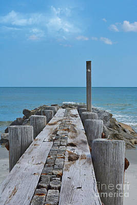 Photograph - Jetty At Pawleys Island by Kathy Baccari