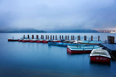Jetty At Sun Moon Lake Art Print