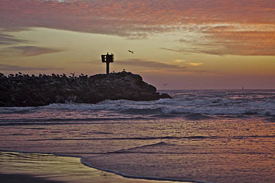 Sunsets Photograph - Jetty At Sunset 2 Moss Landing by SC Heffner