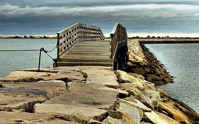 Jetty Bridge Art Print