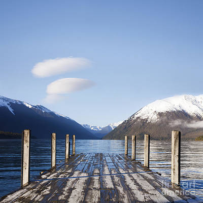 Photograph - Jetty Lake Rotoiti New Zealand Square by Colin and Linda McKie