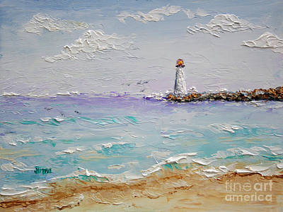 Jetty Lighthouse Art Print by Jimmie Bartlett
