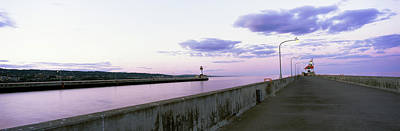 Lake Superior Lighthouse Photograph - Jetty Over A Lake, Lake Superior by Panoramic Images