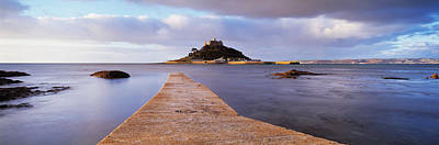 Jetty Over The Sea, St. Michaels Mount Art Print by Panoramic Images