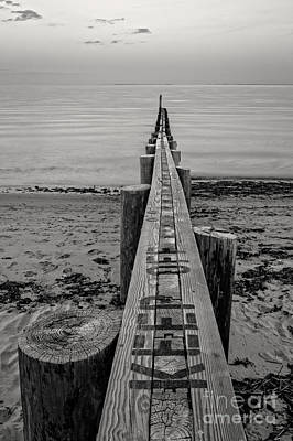 Photograph - Jetty Seawall Westbrook Connecticut by Edward Fielding