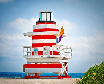 Op Art Photograph - Jetty Tower by Carol Eade