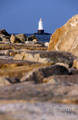 Photograph - Jetty View Sakonnet Pt. Light by Butch Lombardi