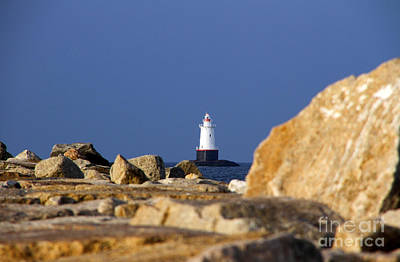 Photograph - Jetty View Sakonnet Pt. Light II by Butch Lombardi