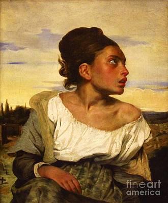 Painting - Jeune Orpheline Au Cimetiere by Pg Reproductions
