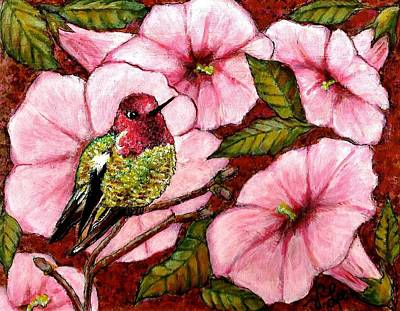 Painting - Jewel Among Blooms by VLee Watson