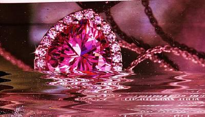 Jewel Bling Fling Collage Art Print