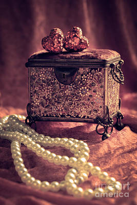 Heart Necklace Photograph - Jewel Casket And Pearls by Amanda Elwell