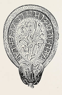 Found Art Drawing - Jewel Of Alfred The Great Found In The Island Of Athelney by English School