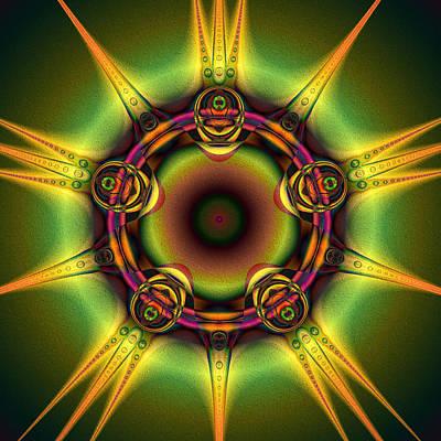Digital Art - Jewel Star by Kiki Art