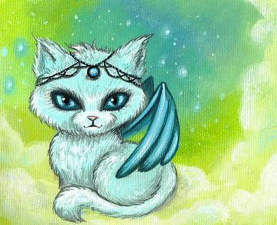 Fantasy Cats Painting - Jeweled Kitty 6 by Elaina  Wagner