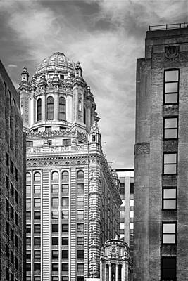 Diamonds Photograph - Jewelers' Building - 35 East Wacker Chicago by Christine Till