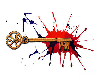 Painting - Jewelled Key by Nora Blansett