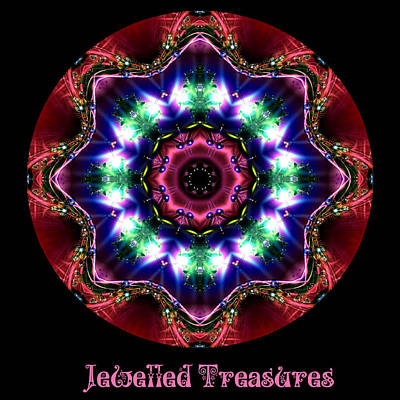 Digital Art - Jewelled Treasure 10 by Charmaine Zoe