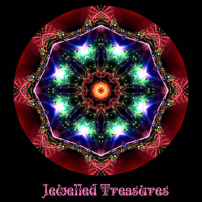 Digital Art - Jewelled Treasure 11 by Charmaine Zoe