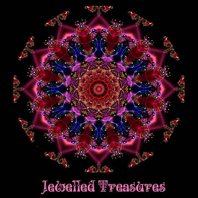 Digital Art - Jewelled Treasure 12 by Charmaine Zoe