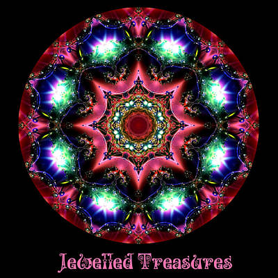 Digital Art - Jewelled Treasure 14 by Charmaine Zoe
