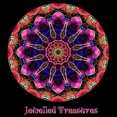 Digital Art - Jewelled Treasure No 13 by Charmaine Zoe