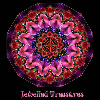 Digital Art - Jewelled Treasure No 4 by Charmaine Zoe