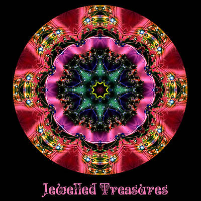 Digital Art - Jewelled Treasure No 6 by Charmaine Zoe