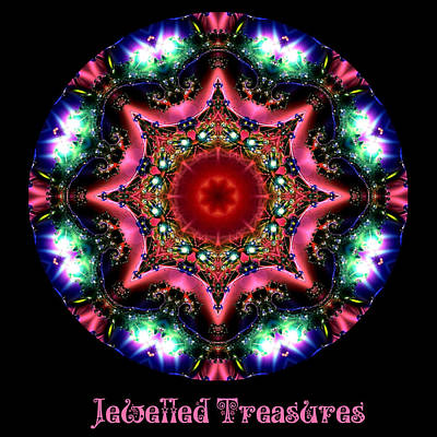 Digital Art - Jewelled Treasure No 7 by Charmaine Zoe