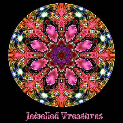 Digital Art - Jewelled Treasure No 8 by Charmaine Zoe