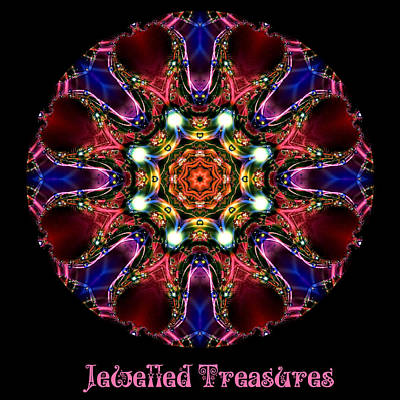 Digital Art - Jewelled Treasure No 9 by Charmaine Zoe