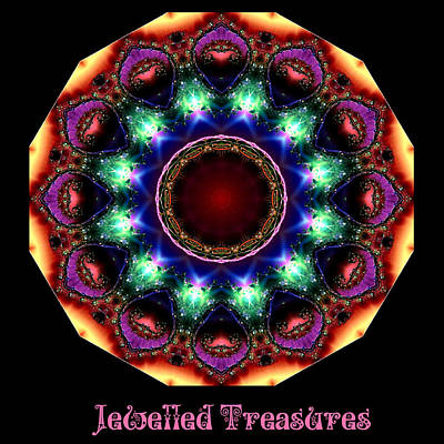 Digital Art - Jewelled Ttreasure No 5 by Charmaine Zoe