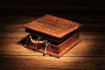 Treasure Box Digital Art - Jewellery Box by Keith Hawley