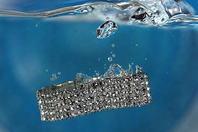 Diamond Bracelet Photograph - Jewelry 3 by Mark Ashkenazi