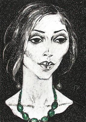 Jewelry In Portraits 3 Art Print by Leonid Petrushin