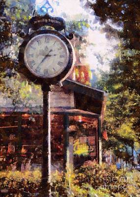 Photograph - Jewelry Square Clock Milford  by Janine Riley