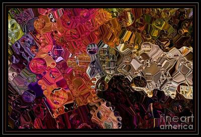 Jewels And Things Digital Abstract Art By Steven Langston Art Print