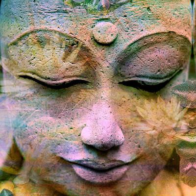 Jewels Buddha Face Art Print