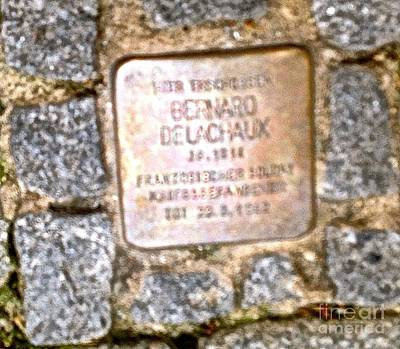 Photograph - Jewish Cobblestone Memorial by John Potts