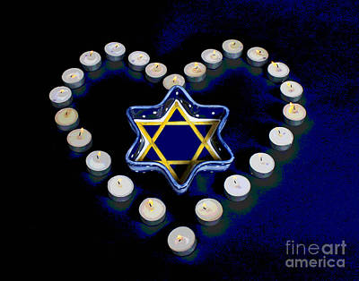 Photograph - Jewish Heart by Larry Oskin